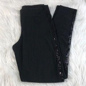 Pink Victoria Secret Women's Black leggings size S